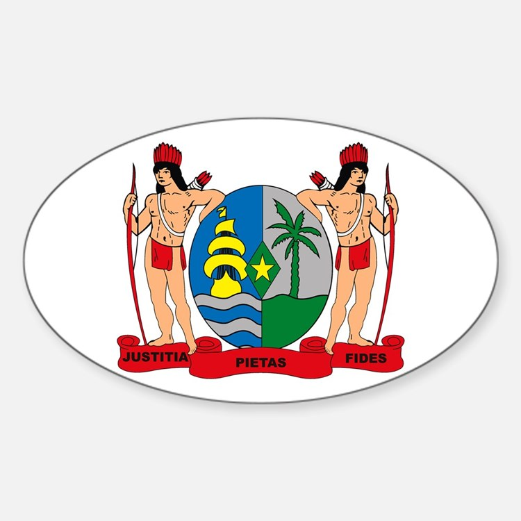 Suriname Coat of Arms Oval Decal