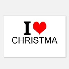 I Love Christmas Postcards (Package of 8)