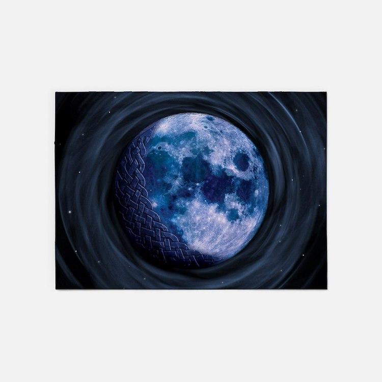 Celtic Blue Moon 5'x7'Area Rug