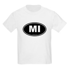 Michigan MI Euro Oval T-Shirt