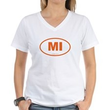 Michigan MI Euro Oval Shirt