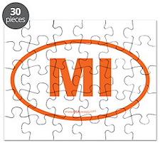 Michigan MI Euro Oval Puzzle