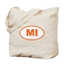 Michigan MI Euro Oval Tote Bag