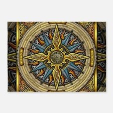 Celtic Compass 5'x7'Area Rug