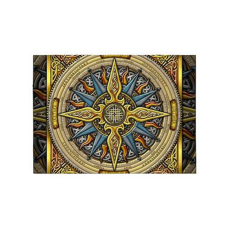 Celtic Compass 5u0027x7u0027Area Rug