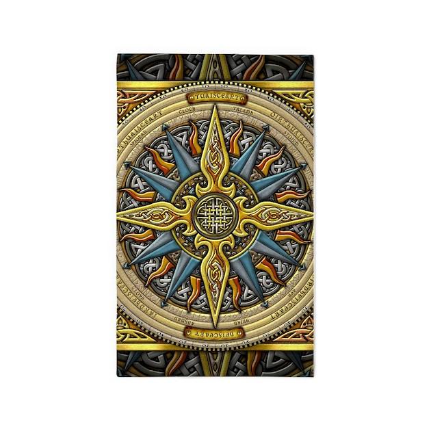 Celtic Compass 3'x5' Area Rug By Artoffoxvox