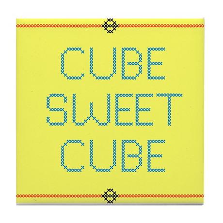 Cube Sweet Cube Tile Coaster