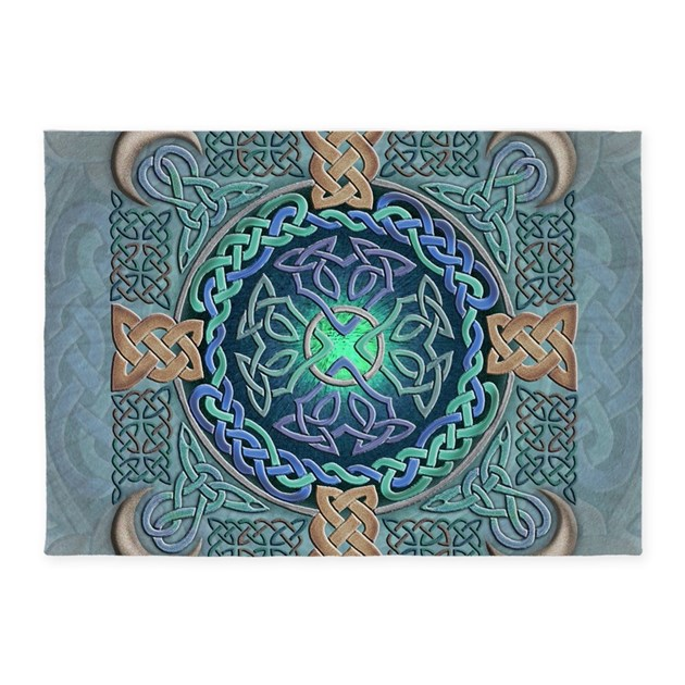 Celtic Eye Of The World 5 X7 Area Rug By Artoffoxvox