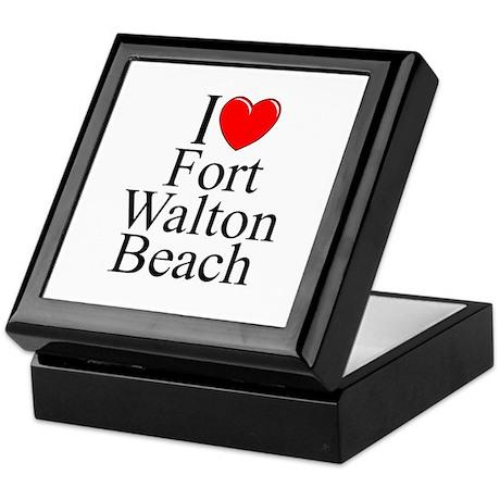 """I Love Fort Walton Beach"" Keepsake Box"