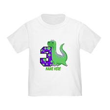 Dinosaur 3rd Birthday Custom T