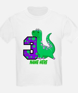 Dinosaur 3rd Birthday Custom T-Shirt