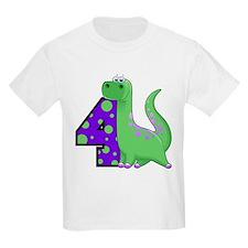 Dinosaur 4th Birthday T-Shirt