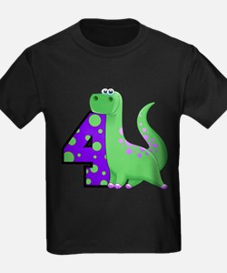 Dinosaur 4th Birthday T