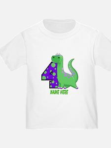 Dinosaur 4th Birthday Custom T