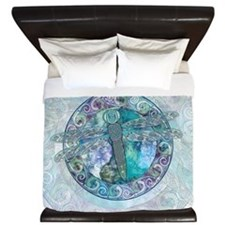 Cool Celtic Dragonfly King Duvet