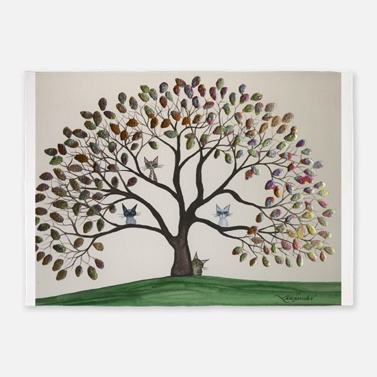 Culpeper Tree Cats 5'x7'Area Rug