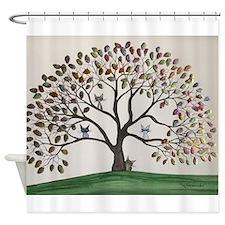 Culpeper Tree Cats Shower Curtain