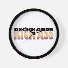 Deckhands Kick Ass Wall Clock