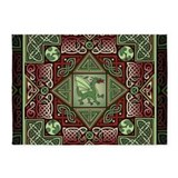 Celtic dragon labyrinth 5x7 Rugs