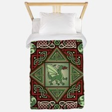 Celtic Dragon Labyrinth Twin Duvet