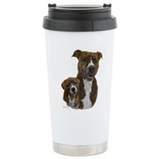 Pit Bull Terrier and Pu Travel Mug