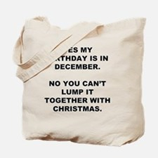 Christmas Birthday Tote Bag