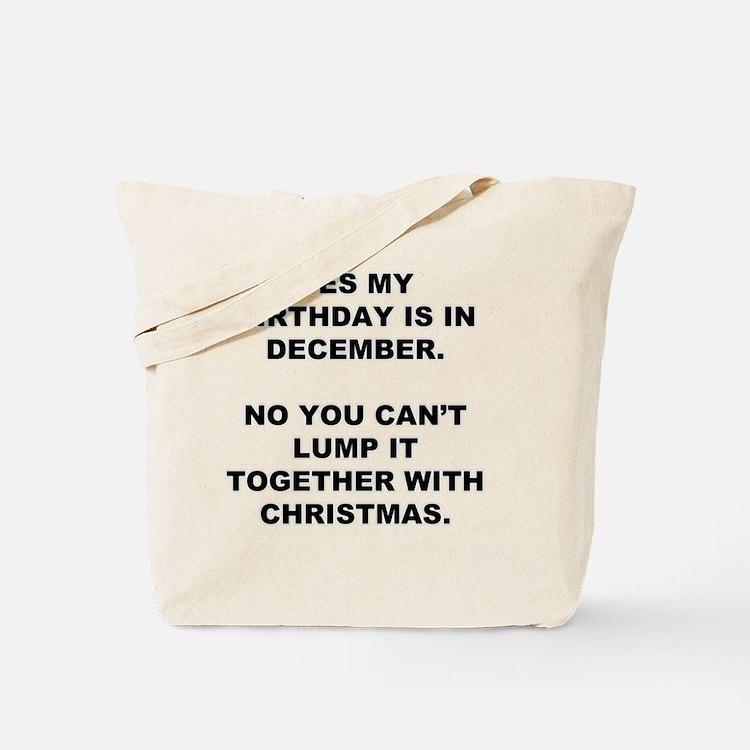 Christmas Birthday Tote Bag