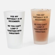 Christmas Birthday Drinking Glass