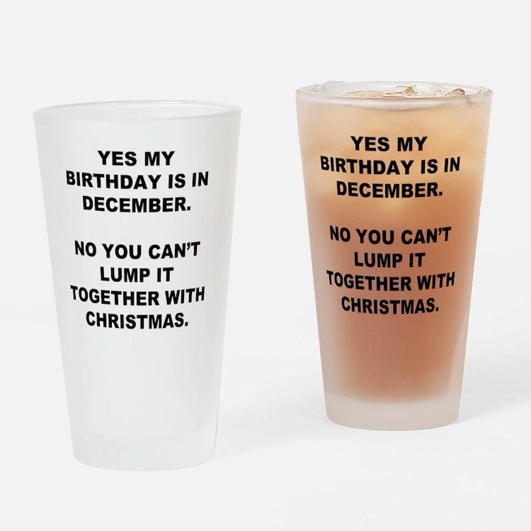 Christmas Birthday Drinking Glass