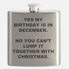 Christmas Birthday Flask