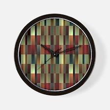 Brandy Wine Pattern Wall Clock