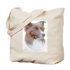 Red Border Collie Tote Bag