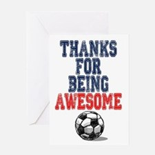 Thanks Awesome Soccer Card Greeting Cards