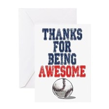 Thanks Awesome Baseball Card Greeting Cards
