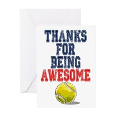 Thanks Awesome Tennis Card Greeting Cards