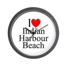 """I Love Indian Harbour Beach"" Wall Clock"