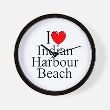 """I Love Indian Harbour Beach"" Wall Clock"