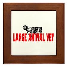 LARGE ANIMAL VET Framed Tile