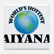 World's Hottest Aiyana Tile Coaster