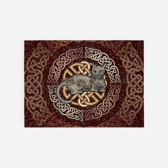 Celtic Cat 5'x7'Area Rug