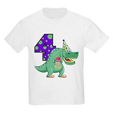 T-Rex 4th Birthday T-Shirt