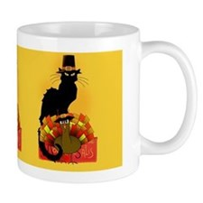 Thanksgiving Le Chat Noir With Turkey P Mug