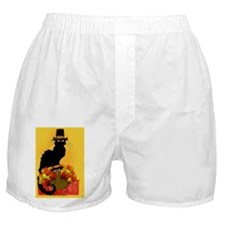 Thanksgiving Le Chat Noir With Turkey Boxer Shorts