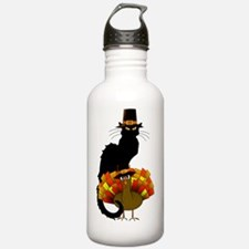 Thanksgiving Le Chat N Water Bottle