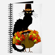 Thanksgiving Le Chat Noir With Turkey Pilg Journal