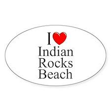 """I Love Indian Rocks Beach"" Oval Decal"