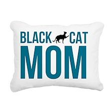 Black Cat Mom Rectangular Canvas Pillow