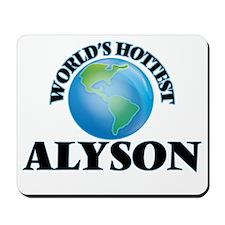 World's Hottest Alyson Mousepad