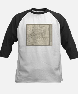 Vintage Map of Memphis Tennessee ( Baseball Jersey