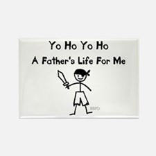 A Father's Life For Me Rectangle Magnet